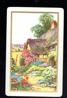 Vintage Swap/Playing Card - Titled - The Garden (LINEN)