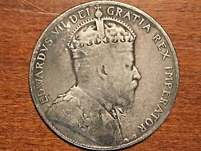 Newfoundland 50 Cents 1904-H  Silver, Canada, Province
