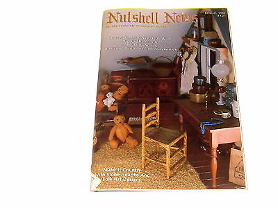 #2362 1986 January  Nutshell News Minatures Magazine For Creators & Collectors