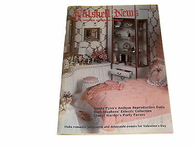 #2373 1985 February  Nutshell News Minatures Magazine For Creators & Collectors