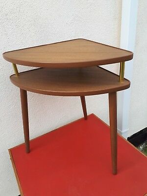 Vintage Retro 1950S 1960S  Side Table, Corner Table  Typical 60S