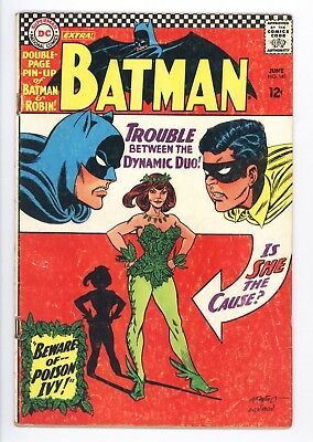 Batman #181 Vol 1 Very Nice Higher Grade 1st App Poison Ivy Complete With Pin-Up