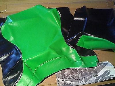 NEW 2002 KAWASAKI ZX-9R  SEAT COVER SKINS Black & Green SECOND LOOK MOTORCYCLE