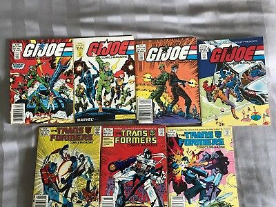 Marvel Digest Set: GI Joe 1 - 4, Transformers 1 - 3