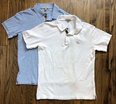 LOT OF 2 Burberry Brit Men s Short Sleeve Polo Shirt Nova Check Size Small  -  80.00   PicClick 81a4d695ce6