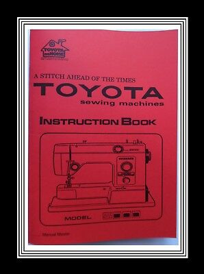 TOYOTA 5000 Free Arm ZigZag Sewing Machine Instruction Manual Booklet