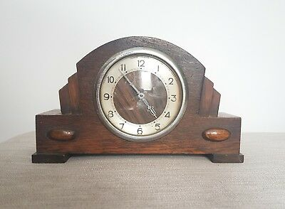 Antique Art Deco Mantle Clock Vintage