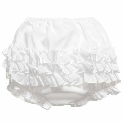 Brand New - Sarah Louise Girls White Frilly Knickers
