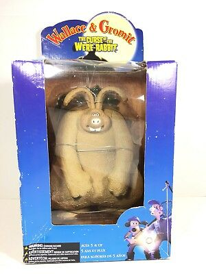 "MIB Wallace & Gromit 10"" Curse of the Were-Rabbit Figure 2005"
