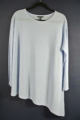 23a4873893fd6 NWD Eileen Fisher Tencel and Merino Wool Asymmetrical Sweater in Sky - Size  S