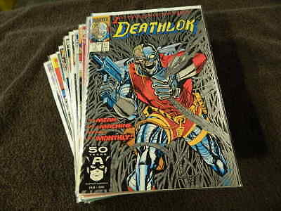 1991 MARVEL Comics DEATHLOK #1-34 + Annuals #1-2 - Awesome 30 Comic Lot! - VF/NM