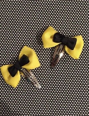 The Wiggles Emma Wiggle Inspired Small Bow Clip Set Of 2- Bow Approx 6cm