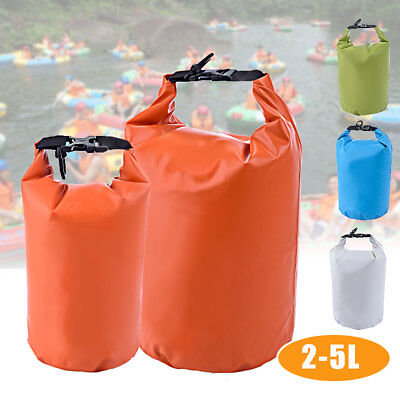 2L-5L Waterproof Pouch Camping/Dry Bag for Kayaking Canoeing Rafting Swim Beach