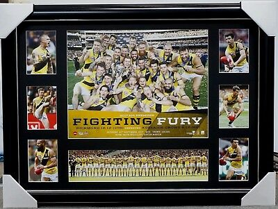 Richmond 2017 Afl Premiers Print Framed - Dustin Martin Trent Cotchin