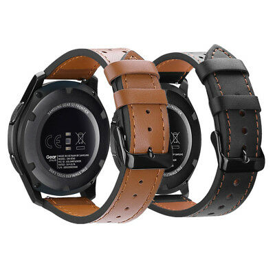Genuine Leather Strap Wrist Watch Bands For Samsung Gear S3 Frontier / Classic
