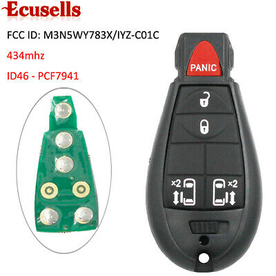 5 Buttons for Chrysler Town Country 2008-2012 Remote Key 433MHZ 4+1 Button
