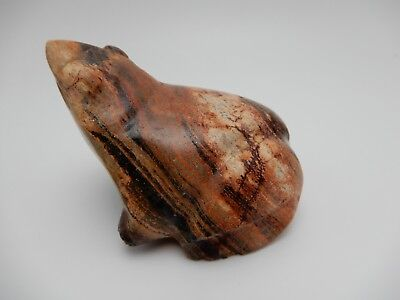 Hand Carved Polished Natural Stone Frog 3 Inch