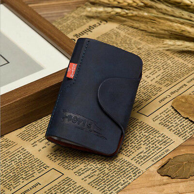 20 Cards Pu Leather Credit ID Business Card Holder Pocket Wallet Leather Case