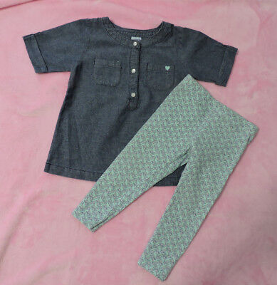 Carter's Baby Girl's 2- Piece Set,Tunic, Top & Leggins, Size 12 Months