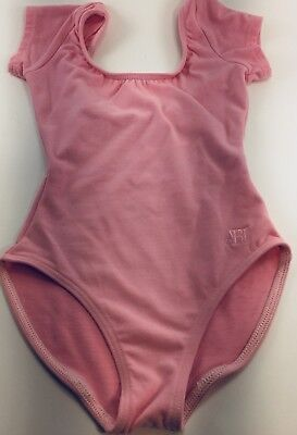 Girls Capezio Dance Gymnastics Leotard Pink Size Child Intermediate - Small