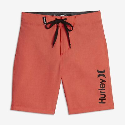 284e072c6d Hurley Little Kids' (Boys') Heathered One and Only Boardshorts - Bright  Crimson