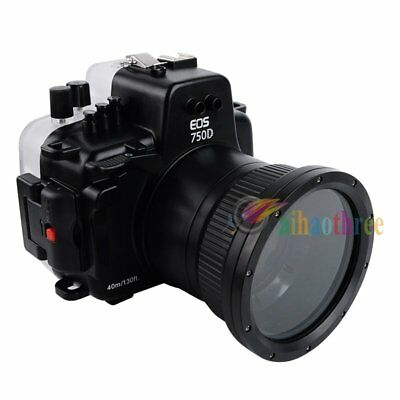 Seafrogs 40m/130ft Underwater Waterproof Diving Case For Canon EOS 750D 18-55mm