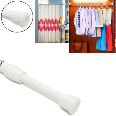 Telescopic Spring Loaded Net Voile Tension Curtain Rail Pole Rod Rods Extendable