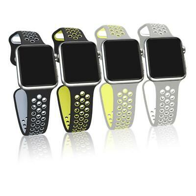 Sport Band for Apple Watch Silicone Replacement Strap+Case iWatch Series 1 2 3 4