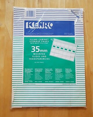 Kenro 35Mm Mounted Slide Storage Pages – 24 Per Page