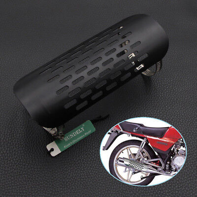 Black Motorcycle Exhaust Muffler Pipe Heat Shield Cover Guard For Harley Cruiser