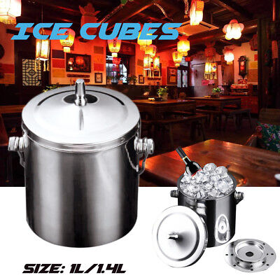 1/1.2/1.4L Stainless steel Double Wall Layered Ice bucket Wine Cooler with Lid