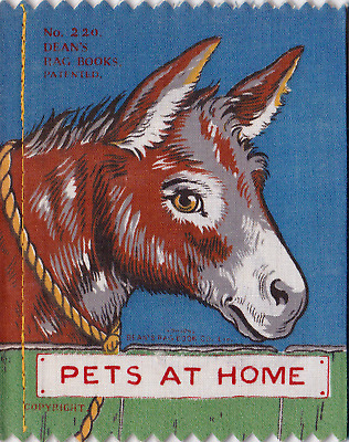 PETS AT HOME AN ANTIQUE COLLECTIBLE DEAN'S RAG BOOK from 1920