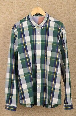 Barbour International Steve Mcqueen Tartan Plaid Cotton Shirt Size Uk Xl