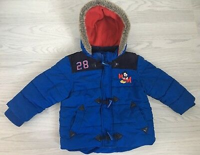 Disney Store Mickey Mouse Boys Winter Coat 12-18mths