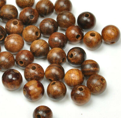 50pcs NATURAL bead Hardwood  ROSEWOOD Fragrant Wood Loose Beads 6mm 8mm w003