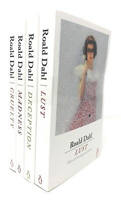 Roald Dahl 4 Books Set Collection Lust, Deception, Madness, Cruelty,Tales Of...