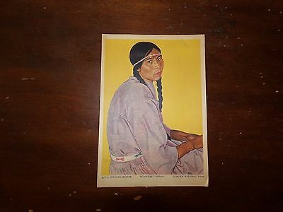 Vintage Glacier National Park Blackfeet Indian Souvenir Print by Winold Reiss