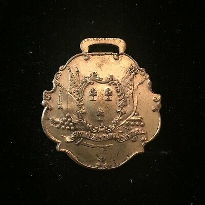 1911 The Connecticut Fire Insurance Co Western Dept Of Hartford Watch Fob
