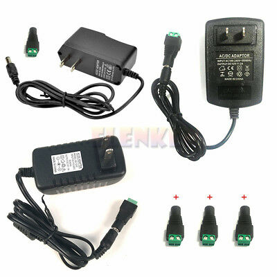 12V 1A 2A 3A Power Supply Charger Adapter Connector 5.5x2.1 LED Strip 5050 3528