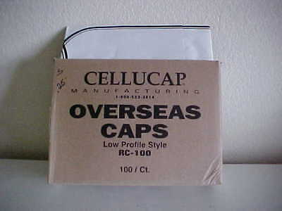 CELLUCAP MFG. OVERSEAS CAPS-RC-100-LOW PROFILE STYLE-100ct.-NEW