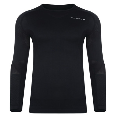 Mens Dare2b Zonal III Long Sleeve Base Layer Black Top Fitness Thermal UK