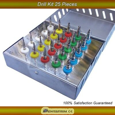 Dental Implant Conical Drills Kit 25 Pcs Surgical Instrument Drill Cutting Tools
