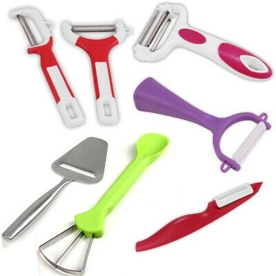 FRUIT & VEGETABLE PEELERS Straight Y Shaped Potato Carrot Apple Slicers Cutters