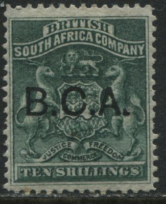 British Central Africa 1891 10/ green mint o.g.