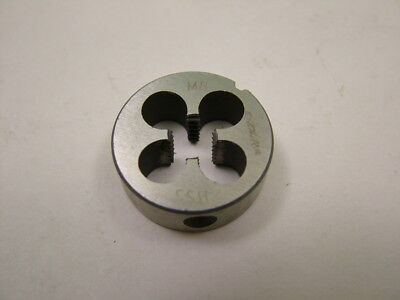 HSS ground thread circular die, M8 x 1.25mm metric coarse thread, 25mm diameter