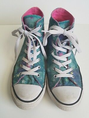 e6902c9eb51c68 CONVERSE All Star Galaxy JUNIOR Size 4 Hi-Top Shoe Chuck Taylor Sneaker  RARE!