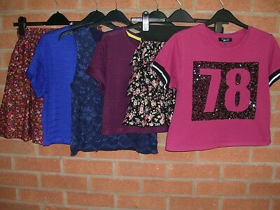 76c22a4414c8 NEW LOOK GIRLS Bundle Tops T-Shirts Skirts Age 12-13 - £0.50 ...