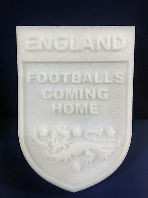 World Cup England Footballs Coming Home Foam Sign Three Lions