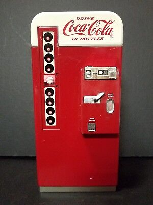 "Vintage Coke Coca Cola Vending Machine Piggy Bank From 1995 - 7 1/2"" Tall"