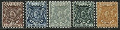 British East Africa QV 1898  2 to 4 1/2 annas mint o.g.